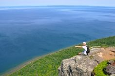 Sleeping Giant Provincial Park, Ontario, Canada - The hike pictured here is called Top of the Giant Trail and is miles roundtrip. Photo: Monica Prelle I WANT TO DO THIS! Camping And Hiking, Outdoor Camping, Hiking Trails, Camping 2017, Canoe Camping, Backpacking, Ontario Parks, Discover Canada, Ontario Travel