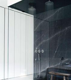Lissoni & Partners is an interdisciplinary studio for Architecture, Interior Design, Product/Lighting Design, Graphics, Art Direction and Corporate Identity Barcelona Apartment, Boffi, Minimalist Bathroom, Apartment Interior Design, Laundry In Bathroom, Contemporary Interior Design, Glass Shower, Lighting Design, Interior And Exterior
