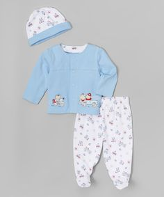 Vitamins Baby Blue Rescue Cardigan Set - Infant   zulily