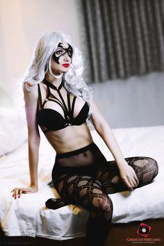 Black Cat by ReyesKat.deviantart.com on @DeviantArt - More at https://pinterest.com/supergirlsart #blackcat #sexy #lingerie #cosplay