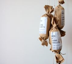 chocolate salami package | Sea + Cane Sweets