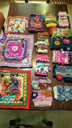 Fiddle muffs and matts for local Age Care. Done by Sophie, Elizabeth and myself.