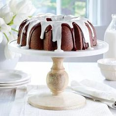 Triple-Chocolate Buttermilk Pound Cake | MyRecipes.com