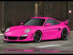 pink porsche, need i say more??