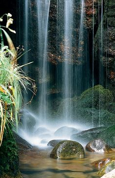 Waterfall in natural reserve, Cantabria