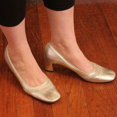 Vintage Silver Party Shoes by PopRocket on Etsy, $27.00
