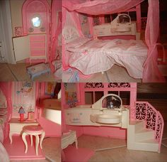 90's Barbie Fold-Up Portable Dreamhouse(bag shaped) by Peter's_Toys, via Flickr