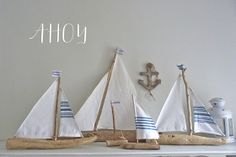 This would be easy to make. Driftwood boats