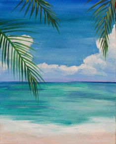 Easy Beach Paintings For Beginners Easy Craft Ideas