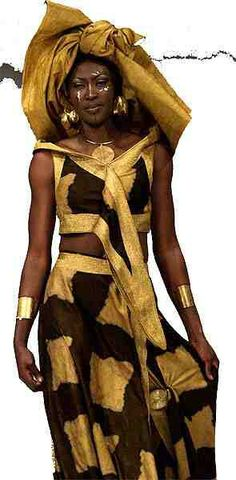 Black & Gold by a Senegalese designer