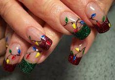 christmas tree nail art - Google Search