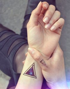 deep-purple-galaxy-geometric-triangles-temporary-tattoo-etsy