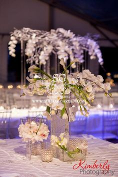 Suhaag Garden, Florida Indian wedding decorator, all white everything, white themed wedding reception, Tampa Marriott Waterside Hotel & Marina, white tent wedding, white calla lillies
