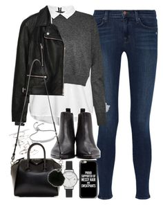 Outfit for an interview in winter by ferned on Polyvore featuring polyvore, fashion, style, French Connection, Zara, J Brand, Acne Studios, Givenchy, Olivia Burton, Topshop, Monica Vinader, Casetify, MICHAEL Michael Kors and clothing