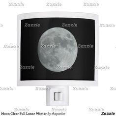 Shop Moon Clear Full Lunar Winter Night Light created by theparlor. Winter Moon, Winter Night, Lunar Moon, Afraid Of The Dark, Customizable Gifts, Dark Skies, Moon Phases, Kid Names, Full Moon