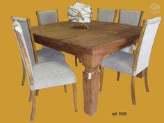 Linda mesa de madeira macissa Garmado.