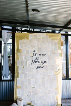 Book Inspired Ceremony Backdrop | Andries Combrink Photography on @SouthBoundBride via @aislesociety