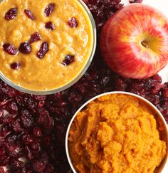 Pumpkin Pie Fall Smoothie      1 cup almond milk     1 teaspoon agave syrup     1 cup pumpkin puree     2 teaspoons cinnamon     1 apple, cored     Dried cranberries        Combine all ingredients except cranberries in blender and blend until smooth. Top with cranberries.  Makes 3 cups