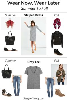 Wear Now, Wear Later - Stripes And Gray Tee