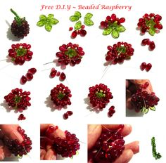 FREE Tutorial for Beaded Raspberry featured on Bead-Patterns.com Newsletter!