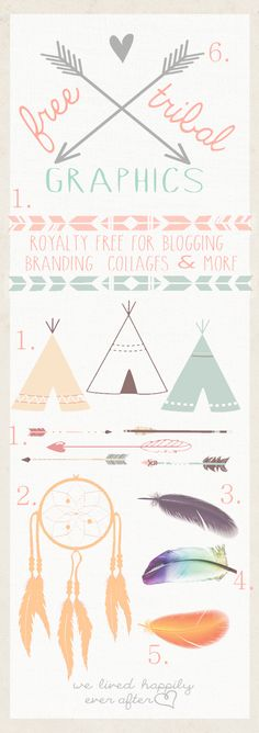 Free Tribal Graphic Downloads (arrow, feather, tipi)