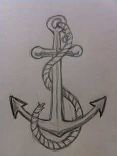 If you want to learn to draw a simple and easy anchor then you need to take a look at this drawing tutorial. It teaches you a step-by-step process to draw a simple anchor quickly. Find out more. # learn to draw easy How to Draw an Anchor Anchor Drawings, Pencil Art Drawings, Cute Drawings, Drawing Sketches, Drawing Tips, Beginner Drawing, Learn Drawing, Anchor Sketch, Dragon Drawings