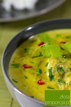 Ryba po tajsku w zielonym curry z mleczkiem kokosowym Indian Food Recipes, Asian Recipes, Ethnic Recipes, Fish Soup, Thai Red Curry, Food And Drink, Blog, Travel, Viajes