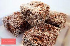 csokis kókusz kocka szénhidrát diéta cukorbetegség inzulinrezisztencia Krispie Treats, Rice Krispies, Healthy Recipes, Healthy Foods, Low Carb, Sweets, Paleo, Cookies, Baking