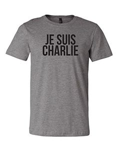 Charlie Hebdo Attack Protest Tee | Je Suis Charlie, I Am Charlie Fitted Tri-blend T-shirt (Small, Deep Heather Grey) RoAcH  http://www.amazon.com/dp/B00RZQO1CK/ref=cm_sw_r_pi_dp_BZQRub1FSEHW5