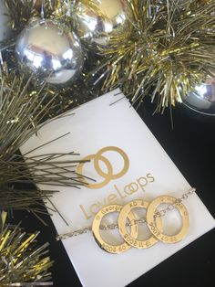 9 carat rose gold, yellow gold and white gold LoveLoops looped onto a yellow gold chain. Cherish Life, Gold Jewelry, Jewellery, Carat Gold, How To Memorize Things, White Gold, Presents, Rose Gold, Christmas