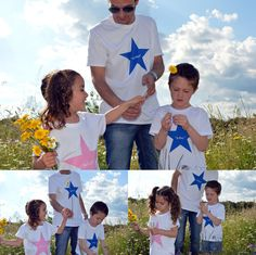 "Toda la familia combinada con camisetas iguales de la firma ""de charco en charco"". #blogmodainfantil #modainfantil Mother And Child, Baby Shower, Children, Kids Fashion Blog, Father's Day, Outfits, Father And Son, Custom T Shirts, Trends"