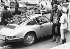 1968 Porsche 911 T and Robert Redford