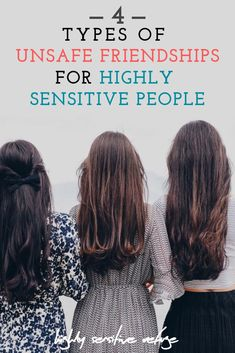For a highly sensitive person, friendship means being able to get vulnerable, yet still feel safe. Here are the four kinds of unsafe friendships for an HSP, and how to handle them. Sensitive Men, Sensitive People, Extroverted Introvert, Infj, Highly Sensitive Person Traits, Friendship Rules, Mental Health Awareness, Healthy Relationships, Type