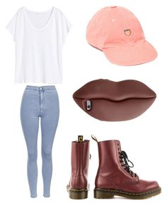 """""""Maroon"""" by madddgalriri ❤ liked on Polyvore featuring UNIF, H&M, Topshop, Dr. Martens and STELLA McCARTNEY"""