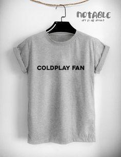 Fan de Coldplay Tumblr ropa t gráfico mujeres por NotableShop