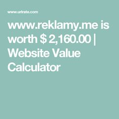 www.reklamy.me is worth $ 2,160.00   Website Value Calculator