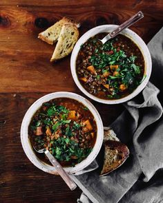Sweet Potato Lentil Stew with warming spices.
