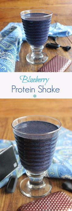 Blueberry Protein Shake tastes great and is uber fast. Only 3 ingredients and done! Packed full of protein to get you fortified with vim and vigor!