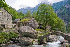 Settlement in Val Calneggia above Foroglio by Bernward Harz - Pixdaus