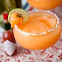 Lafayette's Cajun Margaritas made with chili-infused tequila. For all you True Blood fans out there!