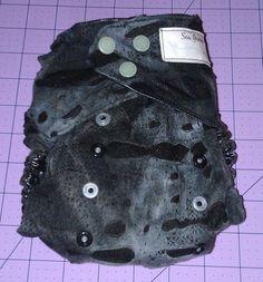 Grey Zombie Monster Mesh Cloth Diaper by SewGreene on Etsy, $18.00