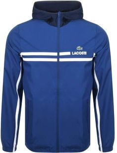 Lacoste Sport Full Zip Hooded Jacket Blue 9e295d53e81a