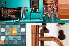 Bathroom Palette #2: Copper & TurquoiseBagni dal mondo   Un blog sulla cultura dell'arredo bagno
