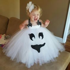 Boo cute ghost costume for baby. #Tulle #Tutu by vanettapark | Kids | Pinterest | Ghost costumes Tulle tutu and Tutu  sc 1 st  Pinterest & Boo cute: ghost costume for baby. #Tulle #Tutu by vanettapark | Kids ...