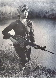 "historicaltimes: "" Female Viet Cong Warrior circa 1973 . """