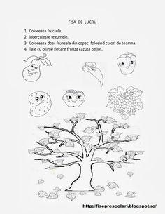 Imagini pentru fructe de toamna fise de lucru Rainbow Art, Worksheets For Kids, Preschool Activities, Diagram, Map, Google, Robot, Autumn, Kids Worksheets