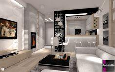 Salon - Styl Minimalistyczny - ARCHITETTO