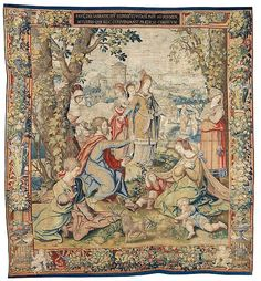 "Designed by Pieter Coecke van Aelst (Netherlandish, 1502–1550). Story of Saint Paul: Preaching to the Women at Philippi tapestry, designed ca. 1529, woven ca. 1535 - 1540. Woven under the direction of Paulus van Oppenem (Flemish). Kunsthistorisches Museum Wien, Kunstkammer. | This work is featured in ""Grand Design: Pieter Coecke van Aelst and Renaissance Tapestry,"" on view October 8, 2014–January 11, 2015. #tapestrytuesday #granddesign"
