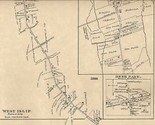 West Islip North Babylon Deer Park NY 1888 Map with Homeowners Names Shown North Babylon, West Islip, Deer Park, Names, Map, Heart, Location Map, Maps
