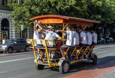 """Pedal bar #2 -- """"There's an epidemic plaguing our beloved craft beer industry. ...It's the unrelenting waves of assholes rolling from brewery to brewery on soulless ghost ships known as pedal hoppers. -- photo by posztos, Shutterstock-- Thrillist -- 1-13-17"""